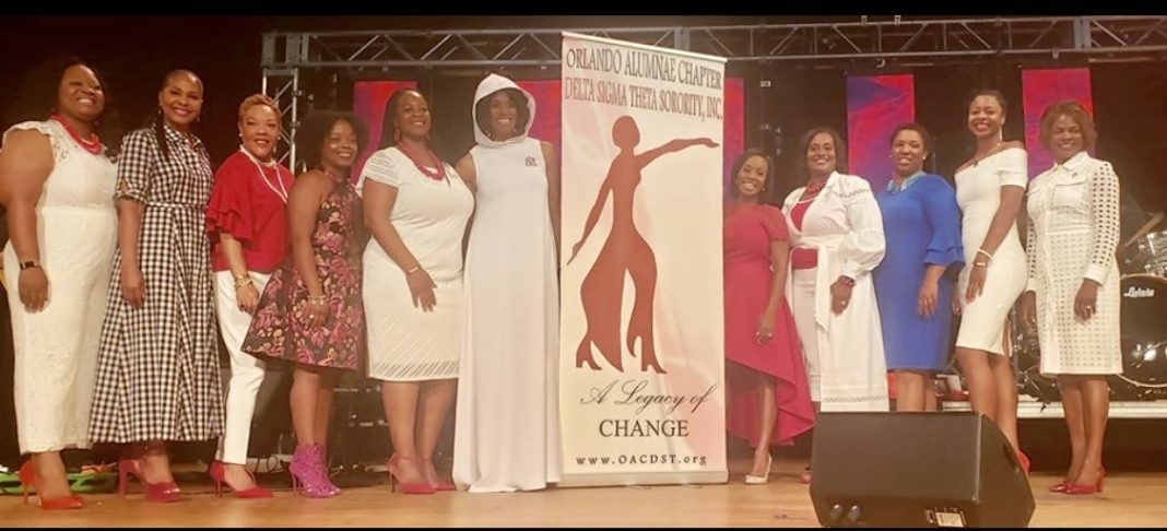 Pictured above are the Honorees and Committee Co Chairs at The 10th Annual Celebration of Women Brunch, hosted by The Orlando Alumnae Chapter of Delta Sigma Theta Sorority, Inc. On May 18, 2019 at Faith Hall, First Baptist Orlando